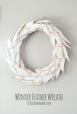 Winter Feather Wreath