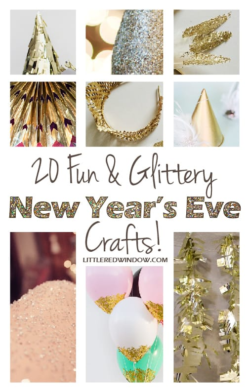 20 Fun & Glittery New Year's Eve Crafts!| littleredwindow.com
