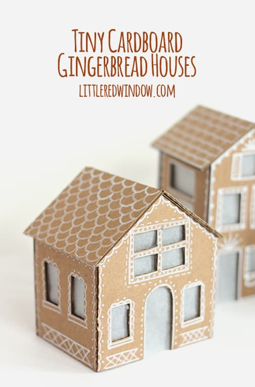 Tiny Cardboard Gingerbread Houses Little Red Window