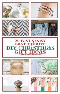 20 Fast & Easy Last-Minute DIY Christmas Gift Ideas| littleredwindow.com