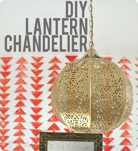 Gold cutout sphere chandelier
