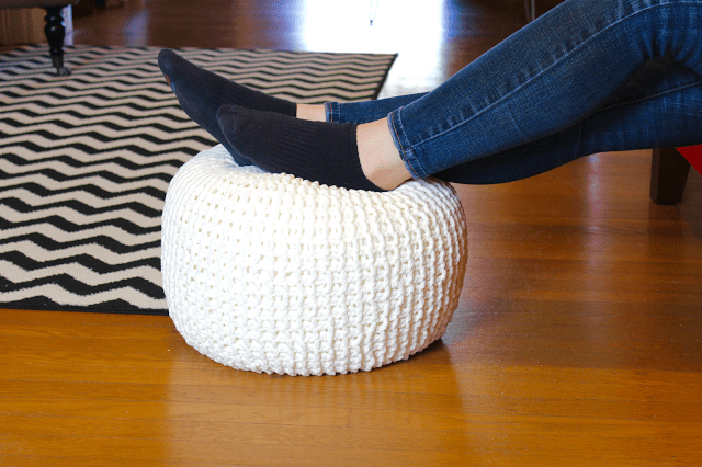 Knitted Floor Pouf 5