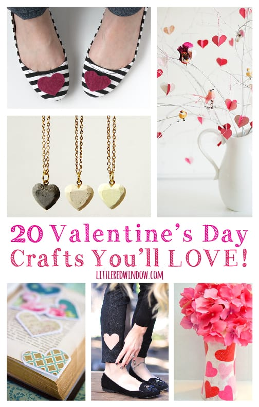 20 Valentine's Day Crafts You'll LOVE!  | littleredwindow.com