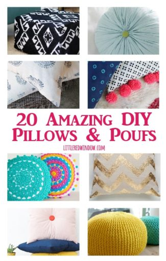 20 Amazing DIY Poufs & Pillows