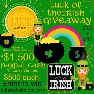 Luck of the Irish $1500 Giveaway!
