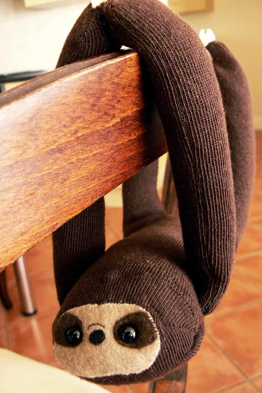 brow knit sloth stuffed animal