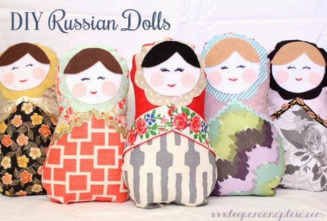 fabric russian nesting doll toys