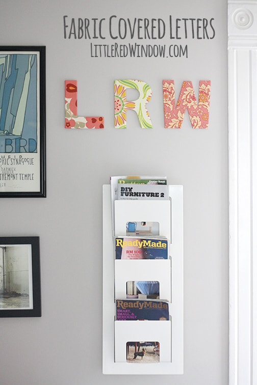 Fabric Covered Letters | littleredwindow.com | Easy DIY project perfect for monograms, nurseries and offices!