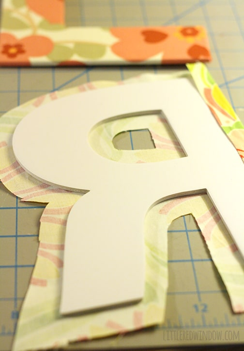 Fabric Covered Letters     littleredwindow.com    Easy DIY project perfect for monograms, nurseries and offices!