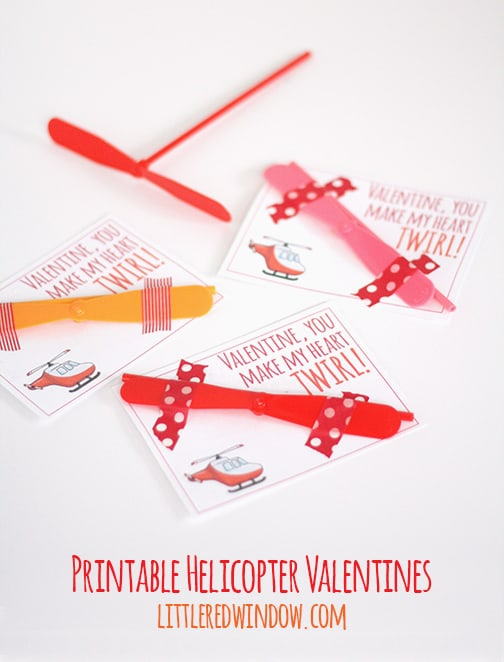 Free Printable Helicopter Valentine Card! | littleredwindow.com