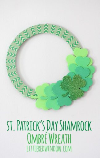 St. Patrick's Day Shamrock Ombré Wreath