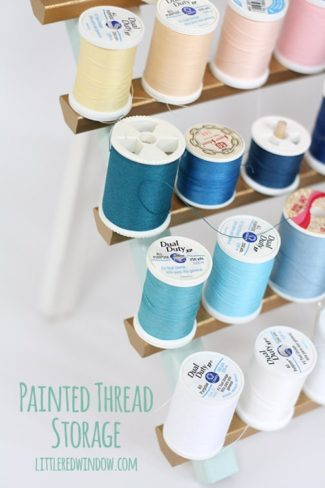 Painted Thread Storage