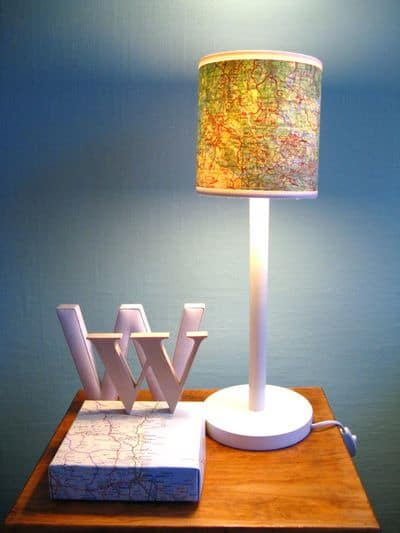 map lampshade