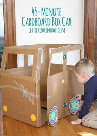The 45 Minute Cardboard Box Car