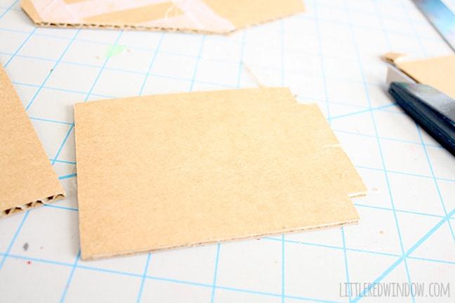 cardboard shape of side mirror