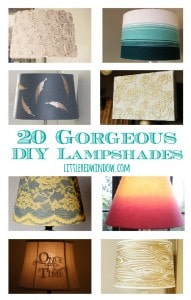 20 Gorgeous DIY Lampshades | littleredwindow.com