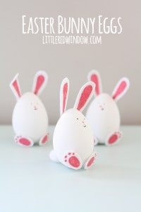 Easter Bunny Eggs | littleredwindow.com | These charming little bunnies are so easy to make!