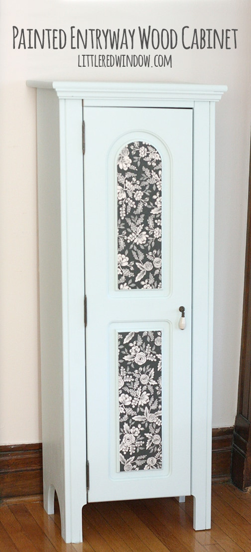 Painted Foyer Cabinets : Painted entryway wood cabinet littleredwindow