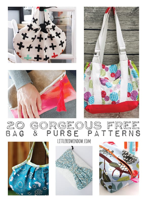 20+ Gorgeous FREE Bag & Purse Patterns | littleredwindow.com