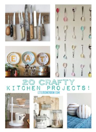 20 Crafty Kitchen Projects