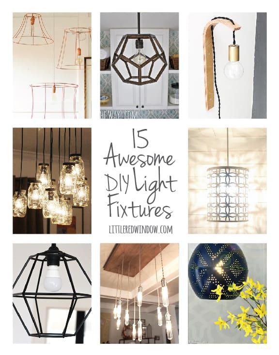 15 Awesome Diy Light Fixtures Littleredwindow
