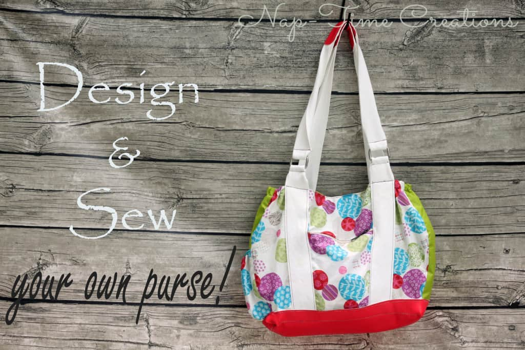 colorful purse with white straps