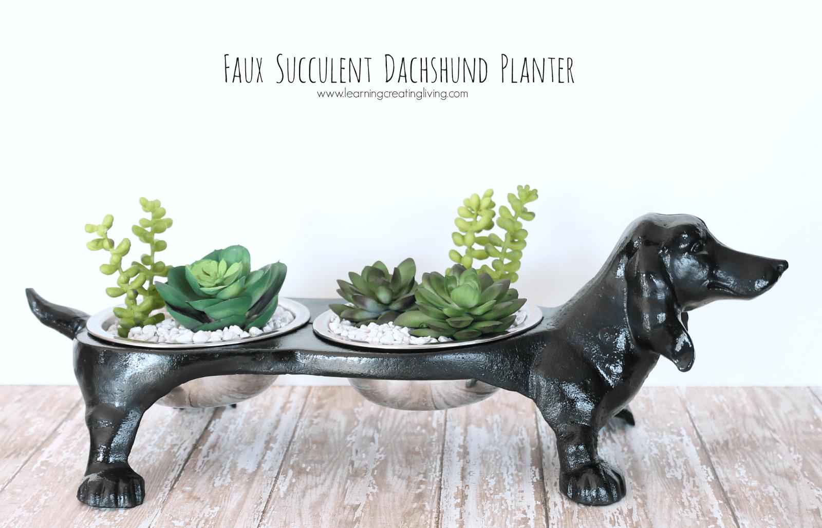 dachshund planter2