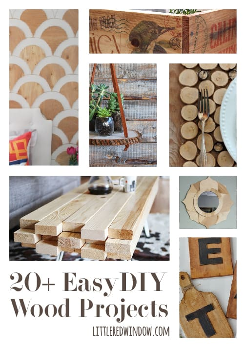 20 easy diy wood projects little red window for Easy diy woodworking projects