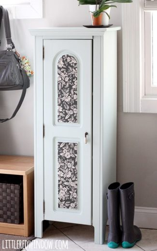 Painted Entryway Wood Cabinet