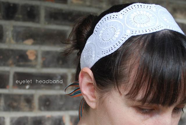 headband made from eyelet fabric
