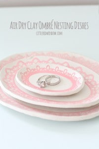 Air Dry Clay Ombre Nesting Dishes! | littleredwindow.com | You won't believe how these are made!