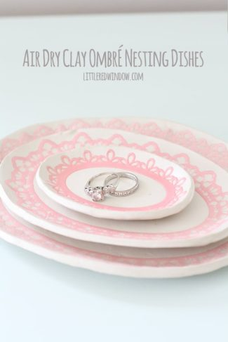 Air Dry Clay Ombré Nesting Dishes