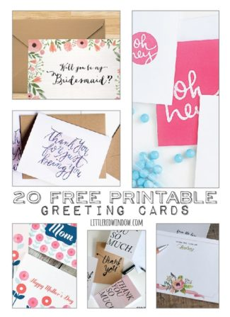 20 Free Printable Greeting Cards