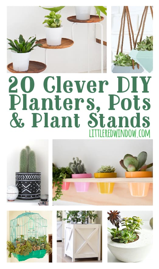 20 Clever Diy Planters Pots Plant Stands For Your Garden Or Inside