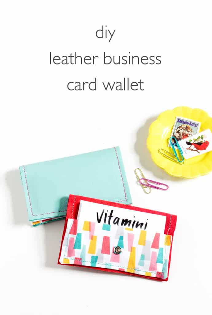 DIY wallet made of leather from Vitamini Handmade