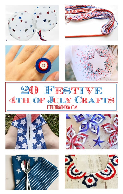 20 Festive 4th of July Crafts! | littleredwindow.com