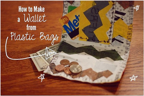 DIY wallet made from fused plastic bags!