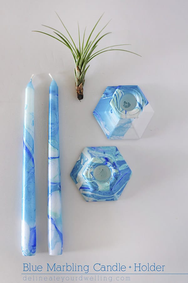 Blue-Marbling-Candle-Holder