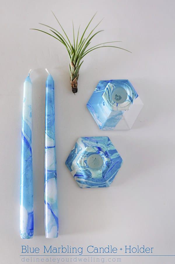 Blue-Marbling-Candle-Holder