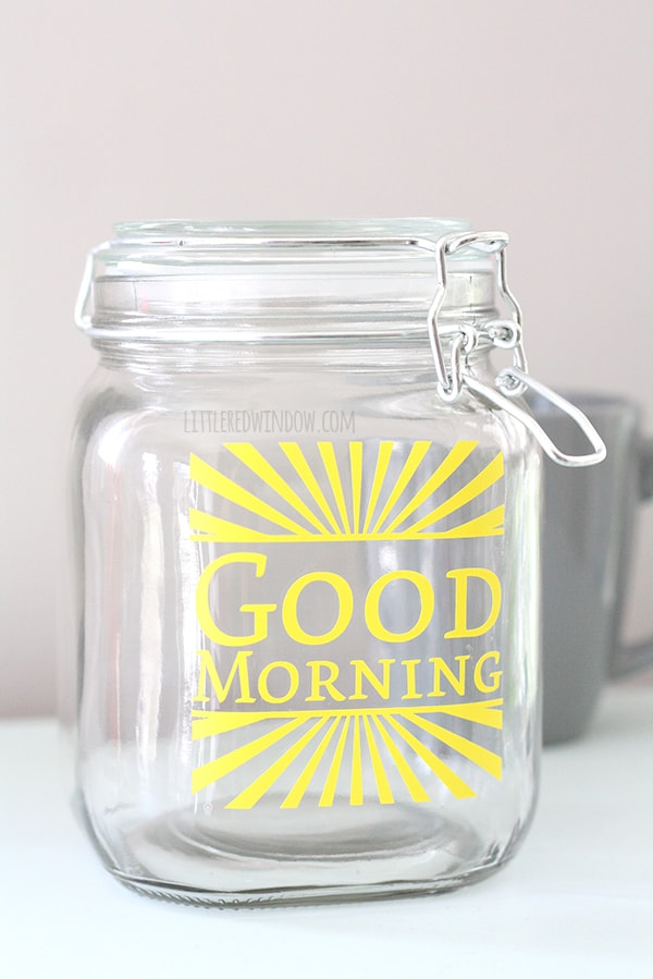 DIY Coffee Storage Container | littleredwindow.com | This cute and sunny coffee container is super easy to make yourself!