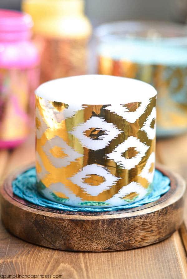 DIY-Gold-Foil-Candle-Wraps