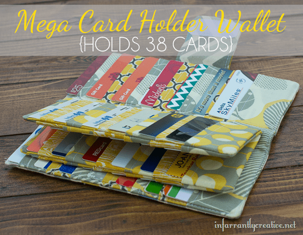 DIY wallet with tons of card slots from infarrantly creative