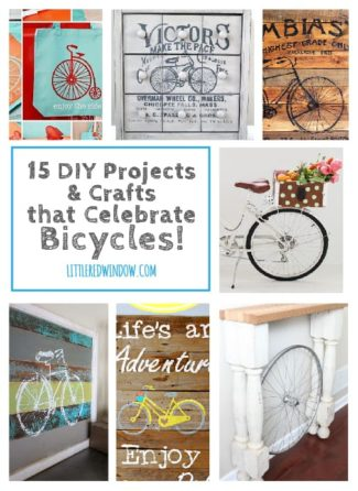 15 DIY Projects and Crafts that Celebrate Bicycles!
