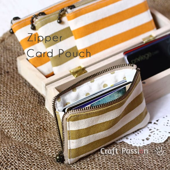Zippered DIY wallet from Craft Passion