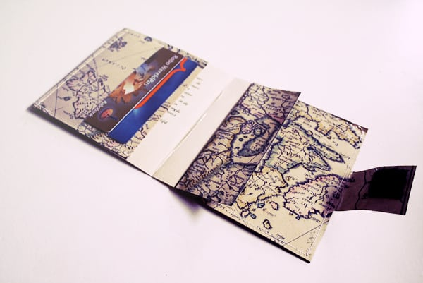 DIY wallet made from maps from By Wilma