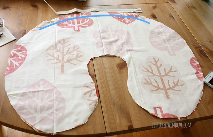 DIY Boppy Cover Pattern| littleredwindow.com | Sew your own nursing pillow cover, it's easy!