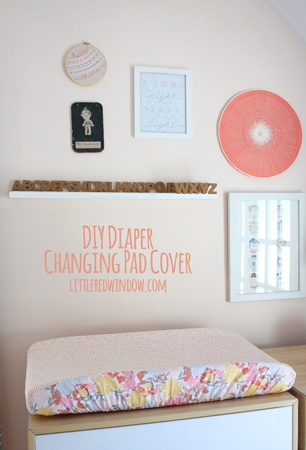 Diy Diaper Changing Pad Cover Little Red Window