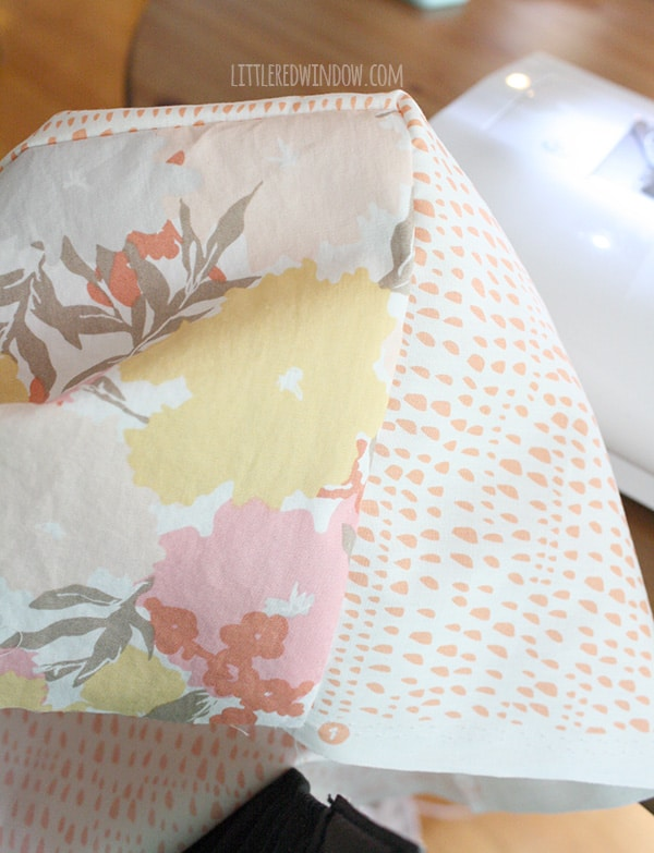 DIY Diaper Changing Pad Cover | littleredwindow.com | Sew your own changing pad cover in just a few easy steps!
