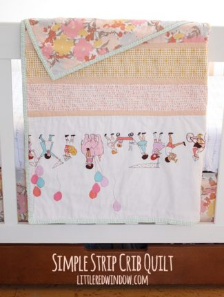 Simple Strip Crib Quilt