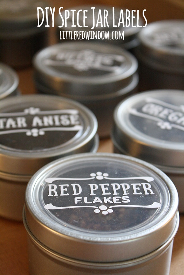 DIY Spice Jar Labels - Little Red Window